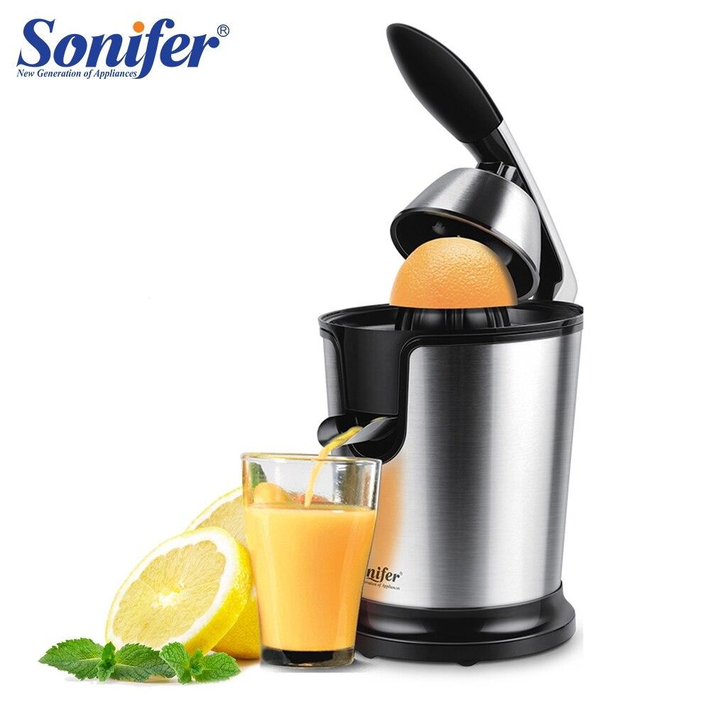 Arancione in acciaio inox 160 W Limone set elettrico spremiagrumi alluminio die-casting maniglia Per Uso Domestico di potere Basso Sonifer