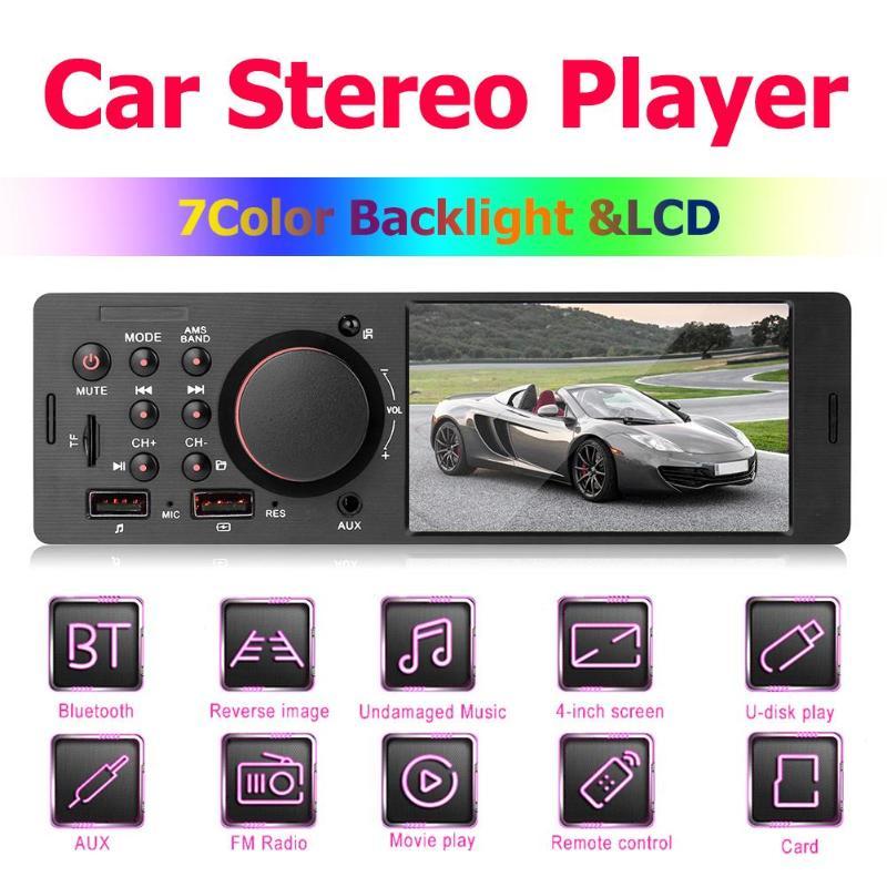 7805 1Din 4.1 pouces TFT WIN CE autoradio MP5 lecteur Radio FM BT4.0 double USB AUX RCA TF voiture lecteurs vidéo télécommande + caméra