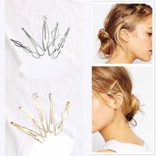 2019 Ins Geometric Hairpin For Women Retro Gold Silver Metal Hair Clips Joker Fringe Clamp Girls Accessories 5 Pcs/set