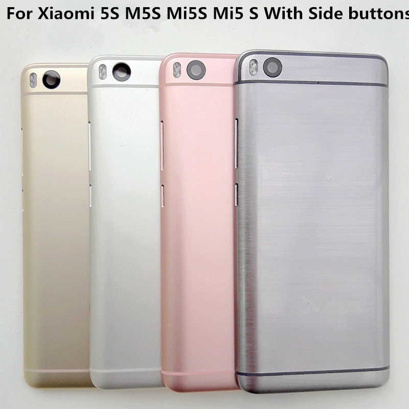 """Original 5.15""""For Xiaomi Mi5S Mi 5S Rear Battery Case Door Back Cover Housing Replacement For For Xiaomi Mi5S Mi 5S Mi5 S Case"""
