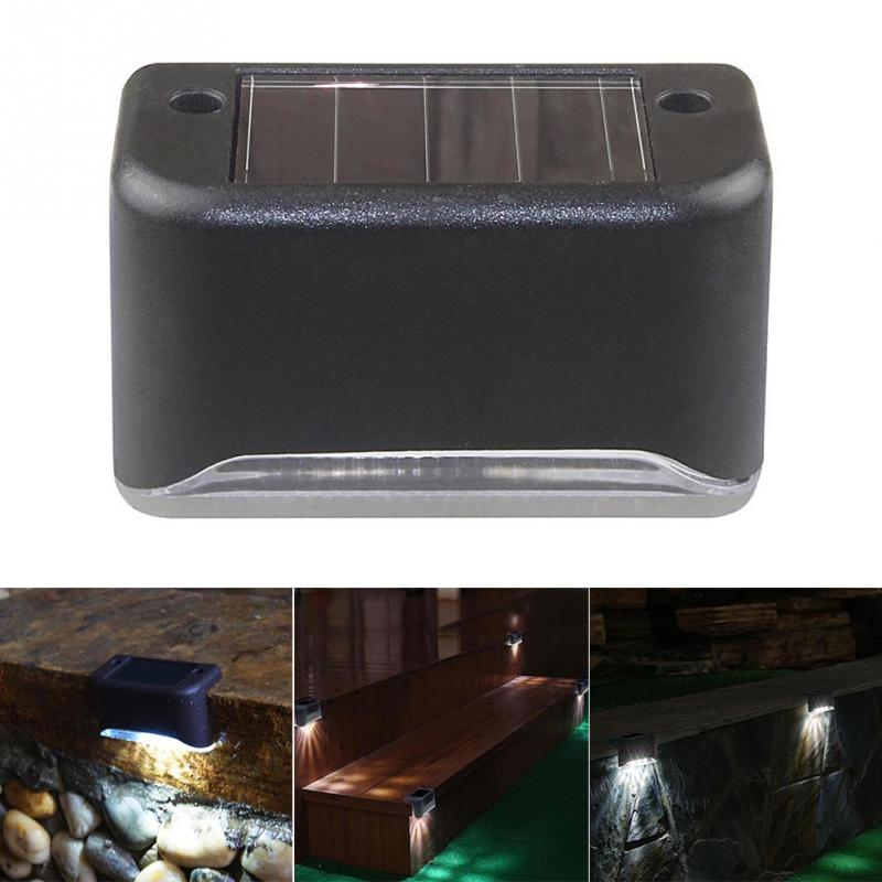 Solar Powered 3 LED Outdoor Deck Step Waterproof Wall Yard Garden Fence Street Security Pathway Lamp Night Light 1PC