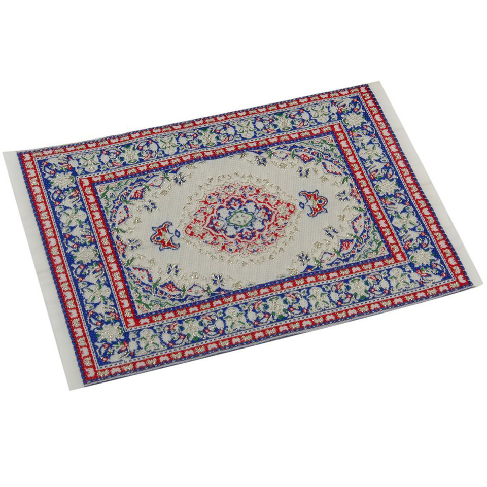1:12 Miniature Woven Carpet Turkish Rug For Doll House Decoration Hot Acces K3O6