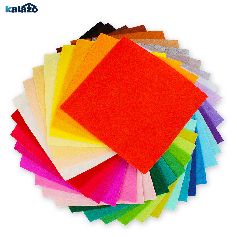 40pcs 15*15cm 40 Colors DIY Feltro Polyester Non-Woven Felt Fabric Needlework Handmade Sewing Craft Supplies Home Decor