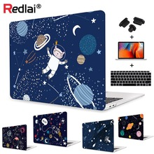 Redlai Cat Space Print Soft-Touch Laptop Case Shell For MacBook Air 13 2018 Case A1932 Retina 13 15