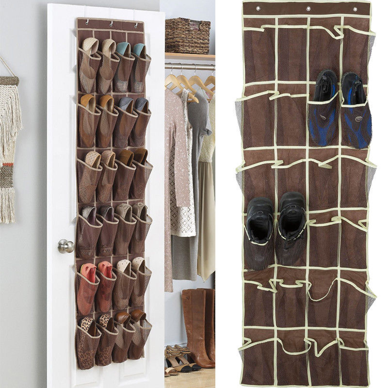 Over the Door Shoe Organizer Rack Hanging Storage Space Saver Hanger