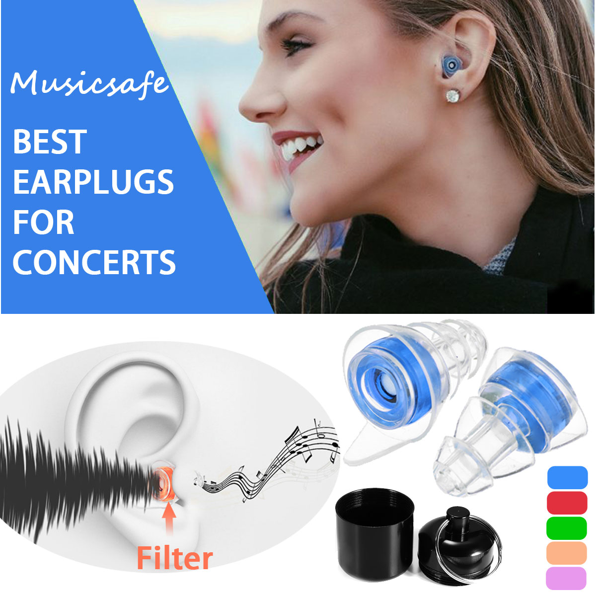 20db Silicone Ear Plug Sound Insulation Ear Protection Reusable Noise Music Reducing Cancelling Earplugs For Sleep Concerts20db Silicone Ear Plug Sound Insulation Ear Protection Reusable Noise Music Reducing Cancelling Earplugs For Sleep Concerts