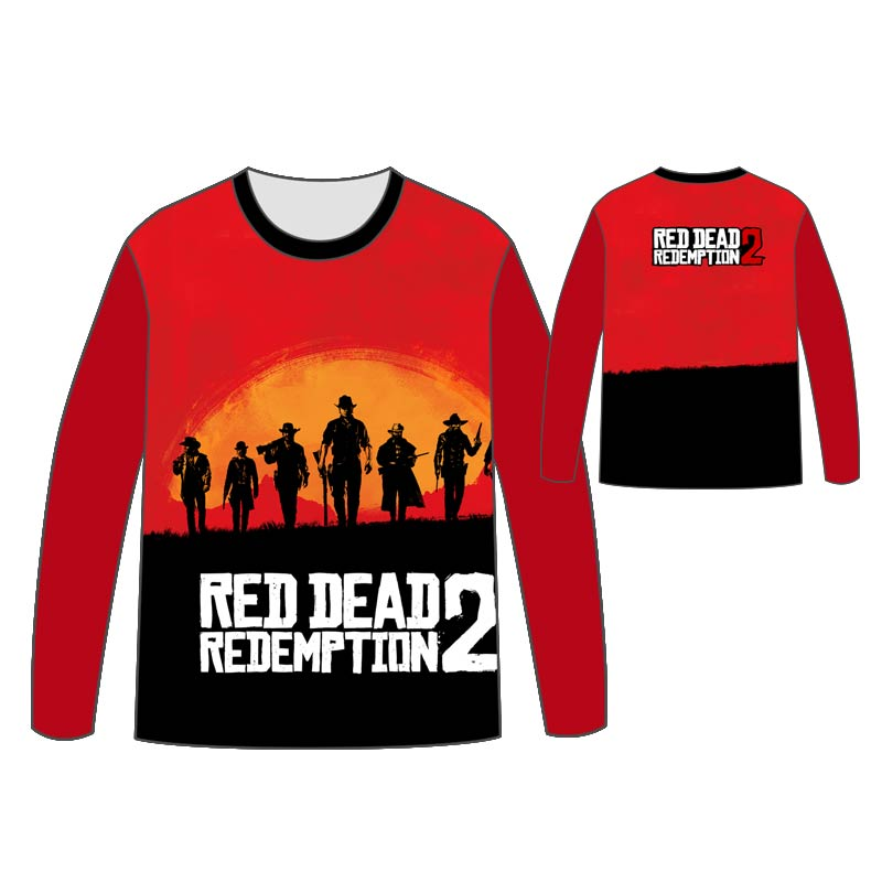 Hot Red Dead Redemption T shirt Men Tops Unisex Cosplay dress Red Dead Redemption 2 Long sleeve concept T shirt Tops Tees in T Shirts from Men 39 s Clothing