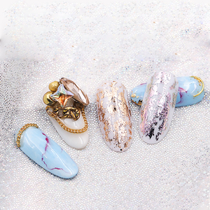 Image 4 - Feuilles Laser pour ongles, autocollants de transfert brillant, flocons de couleurs AB, pointe de transfert brillant, pour décoration et Nail Art, 7 couleurs/kit