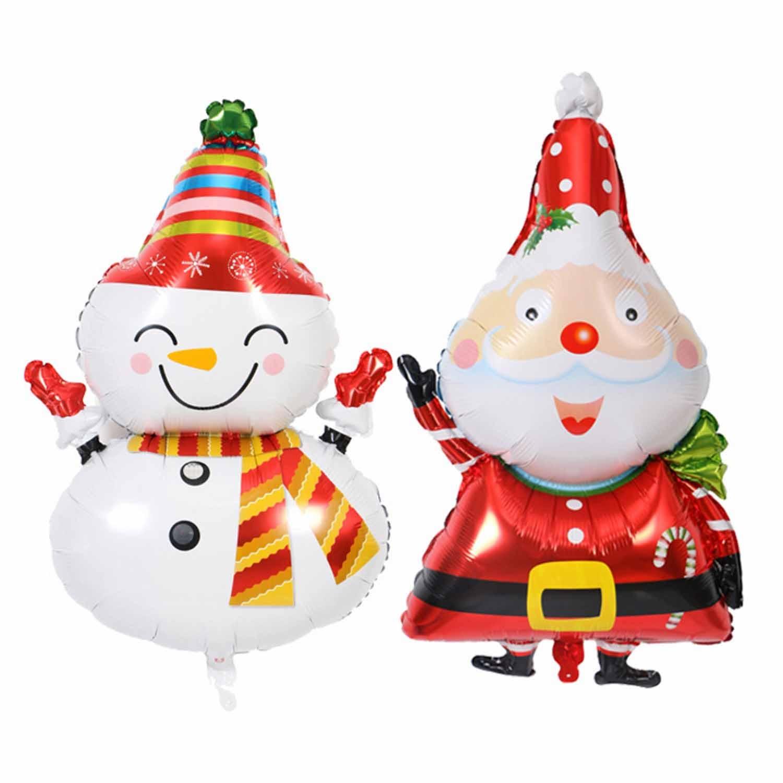 17pcs Party Supplies MERRY CHRISTMAS Hanging Banner Santa Claus Snowman Balloons Set For Christmas Xmas Decorations