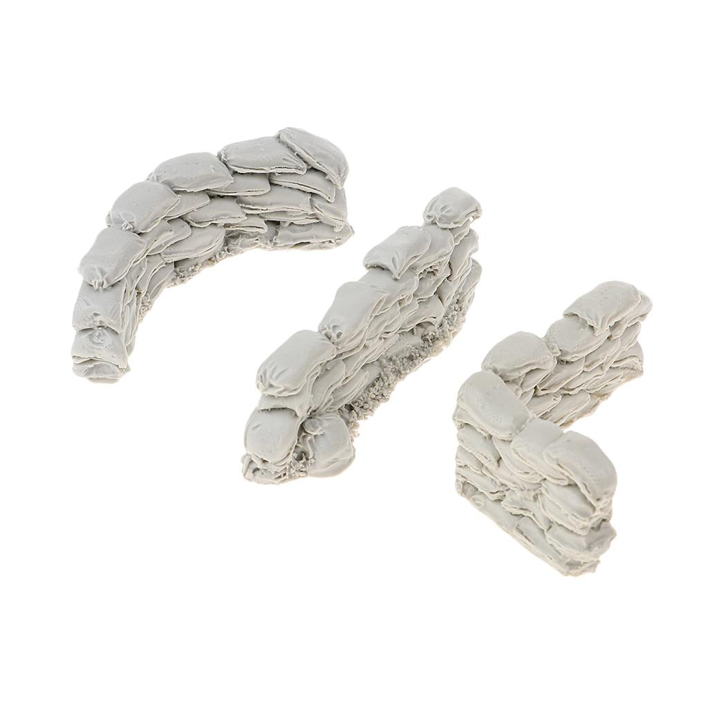 1/35 résine soldat scénario accessoires Sandbag murs combinaison résine Kit 1/35 résine soldat scénario accessoires