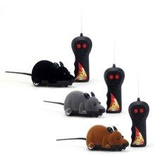 """Беспроводной пульт дистанционного управления RC электронная Крыса Мышь игрушка """"мышь"""" для кошки щенка забавная игрушка"""