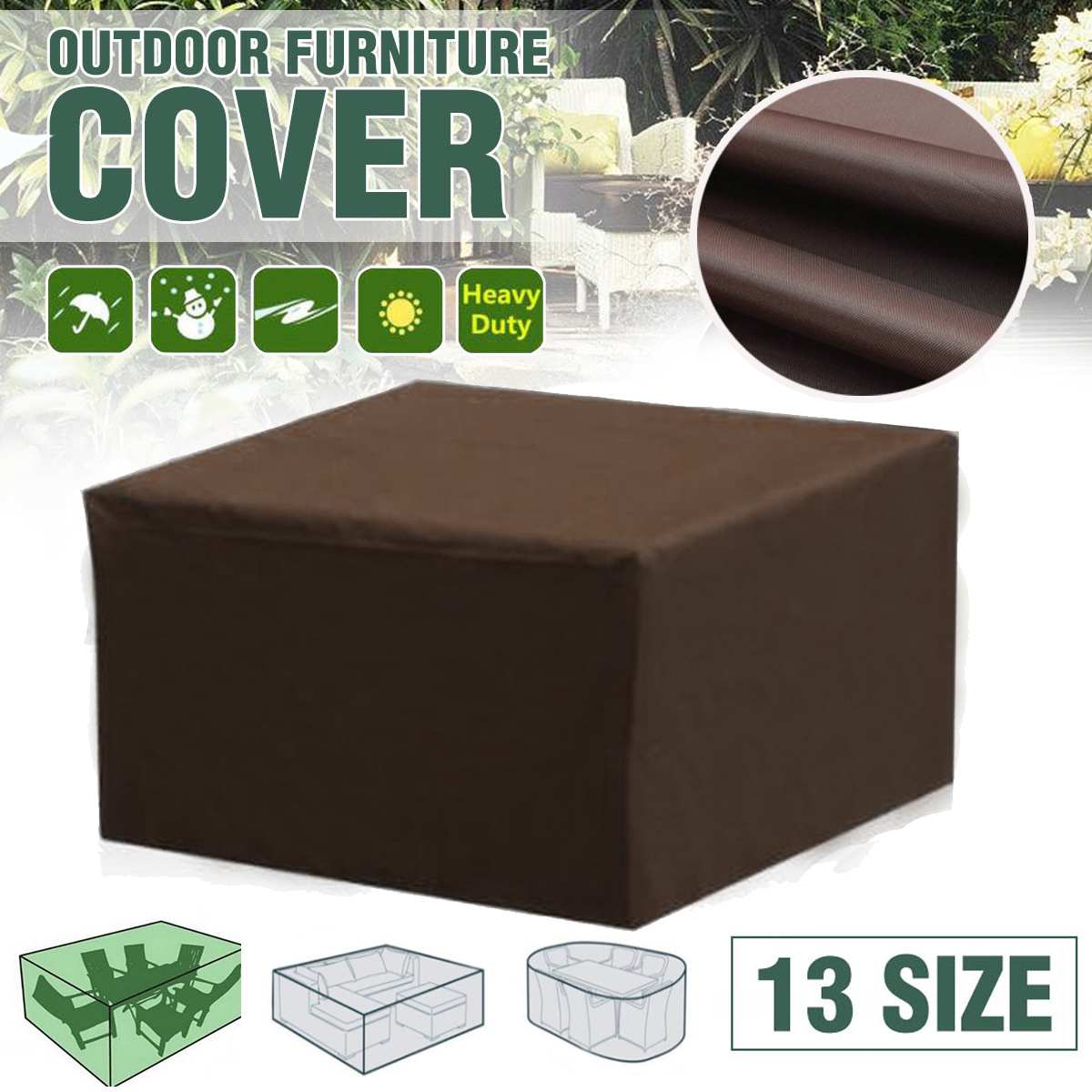 Waterproof Outdoor Garden Furniture Cover Covers For Wicker Sofa Protection Set Table Lounge Patio Rain Snow Dustproof Covers