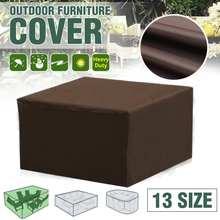 Водонепроницаемый чехол для садовой мебели, чехлы для плетеного дивана, набор для защиты стола, гостиной, патио, дождя, снега, пылезащитные чехлы