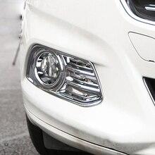 Cromato In Plastica ABS Anteriore Nebbia Copertura Della Lampada Della Luce Chrome Finitura Lucida Trim Stampaggio Guarnisce Per Ford Fusion Mondeo 2013 -2016