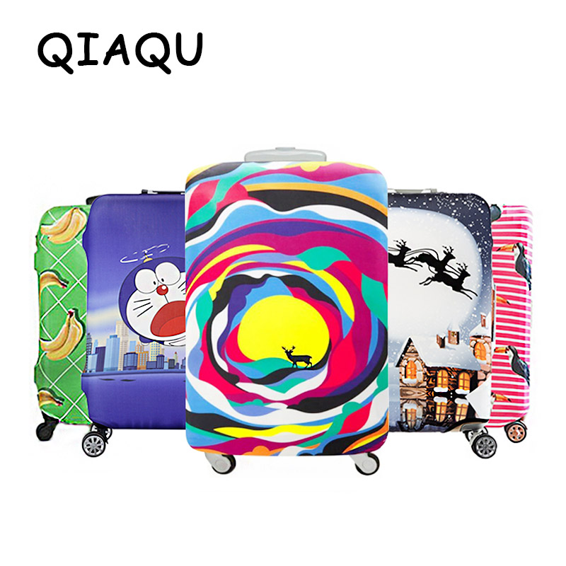 QIAQU Travel Accessories Quality New INS With The Same Paragraph Multi-function Dust-proof Thick Elastic Color Luggage Cover