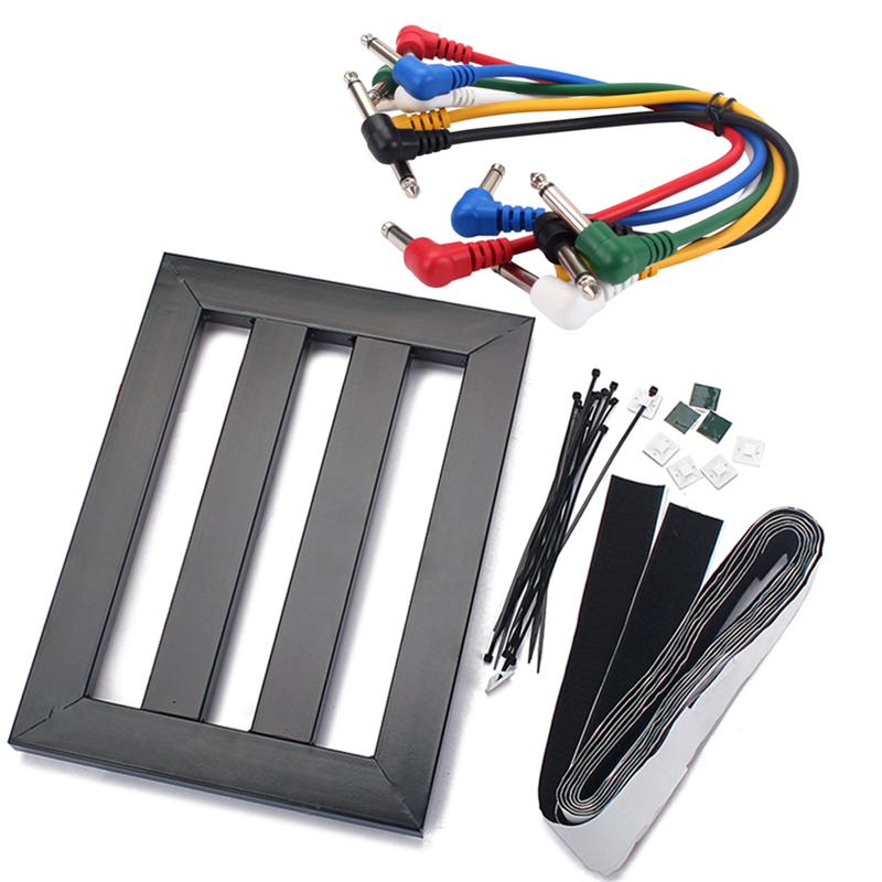 1 set guitar effect power bracket portable effector pasting board effects pedal board effect. Black Bedroom Furniture Sets. Home Design Ideas