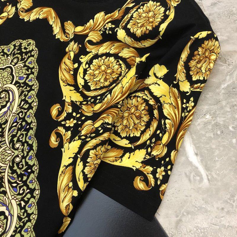 2019 printemps 19ss nouvelle arrivée de mode Designer t shirts Royal Floral imprimé t shirt pour hommes de luxe coton marque vêtements Top célèbre - 3