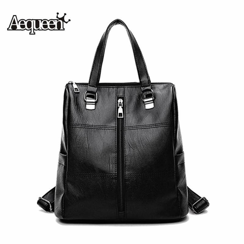 7c29ad1dc63b AEQUEEN 2018 черные женские рюкзаки женские дорожные сумки на плечо модные  рюкзаки из ...