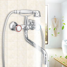 Free Shipping Chrome Finish Wall Mounted Copper Toilet Bidets Faucet Shower Set Brass Nut Elastic Shower Hose Home Improvement