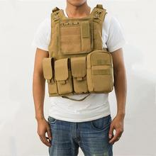 Mounchain Airsoft Military Pockets fishing Vest Combat Assault Tactical Vest with Pocket Outdoor fishing Hunting Vest new tactical vest kit safety vests adjustable with storage closing pockets fit for nerf n strike elite team games hunting vest