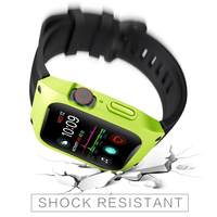 44mm 40mm Sport Case Strap For Apple Watch Series 4 Correa Rugged TPU Screen Protective Cover & Bracelet Wristband For Series 3
