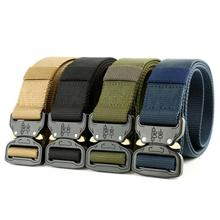 купить new Tactical Belt Webbing Nylon Belt Young Student Military Training Belt With Heavy Duty Quick Release Metal Buckle #1024 дешево