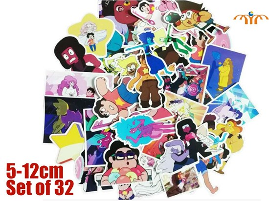 Giancomics Steven Universe Stickers Set Toy Sticker For Luggage Skateboard Laptop Motorcycle PVC Sticker Backpack Ornaments