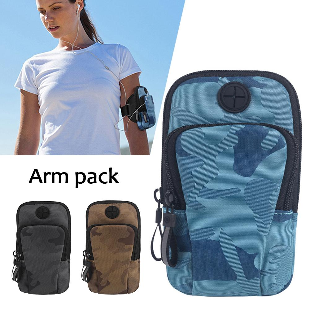 Canvas Run Arm Bag Sports Outdoor Arm Work Out Pack Waterproof Mobile Phone Arm Bags Fitness Running For Women And Men Unisex in Running Bags from Sports Entertainment