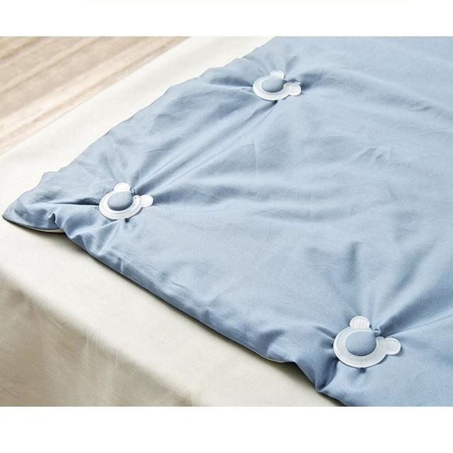 WHISM Plastic Bed Sheet Clip 4PCS Mattress Slip-Resistant Fixing  2