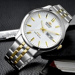 Image 2 - 100% オリジナルオリエント 3 スター腕時計ビジネス自動機械式時計ファッションメンズ腕時計 5 バー耐水性発光手