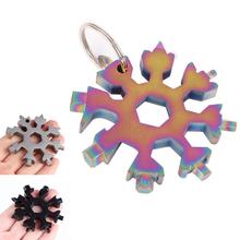 18 w 1 snowflake kilka kieszeni narzędzie brelok klucz klucz oczkowy klucz sześciokątny wielofunkcyjny uniwersalny obóz przetrwać outdoor hike tanie tanio Tegoni CN (pochodzenie)