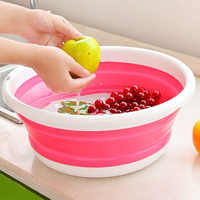 Space-Saver 1PCS Car Washing Tool Portable Collapsible Basins Folding Bucket Vegetable Fruit Basin High Capacity