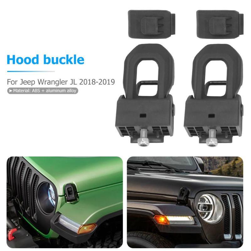 Serrure de moteur de voiture pour Wrangler JL 2018-2019 2/4 couvercle de verrouillage de capot de voiture pour Wrangler JL accessoires de style