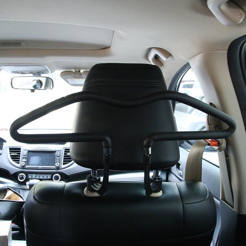 Car Seat Back Headrest Coat Hanger Jacket Clothes Holder Hanging Silver Tone