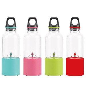 Image 2 - 500ml 4 blade portable blender juicer machine mixer electric mini usb food processor  juicer smoothie blender cup maker juice