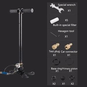 Image 2 - Compresseur haute pression, 30mpa, 4500psi, 300 bars, manuel, pour pompe à Air, pour véhicule, moto, vélo, 3 étages