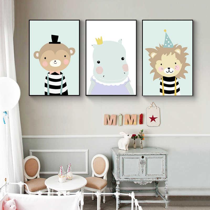 Cute Kawaii Bear /& Rainbow Modern Nursery Print Baby Wall Art Decor Picture