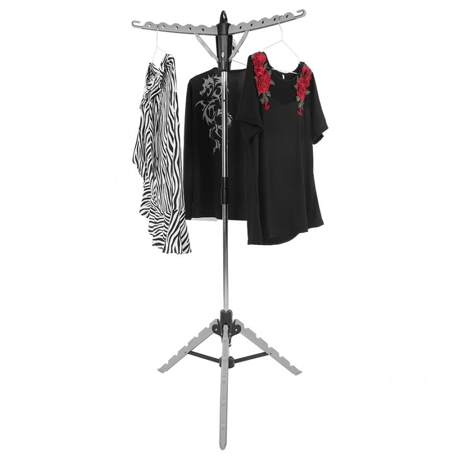 Folding Transportable Clothes Horse Laundry Clothes Hanger Drying Airing Tripod Rack Stand Drying Tripod Rack