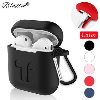 Soft Silicone Case For Apple Airpods accessories wireless Earphone headphone Anti-lost strap rope Protective cover for Air pods