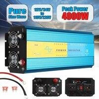 Pure Sine Wave Inverter 12V 220V 2000W 4000W Pe ak Voltage Transformer Converter DC12V/24V AC 110V/220V LCD Inverter 50Hz/60Hz