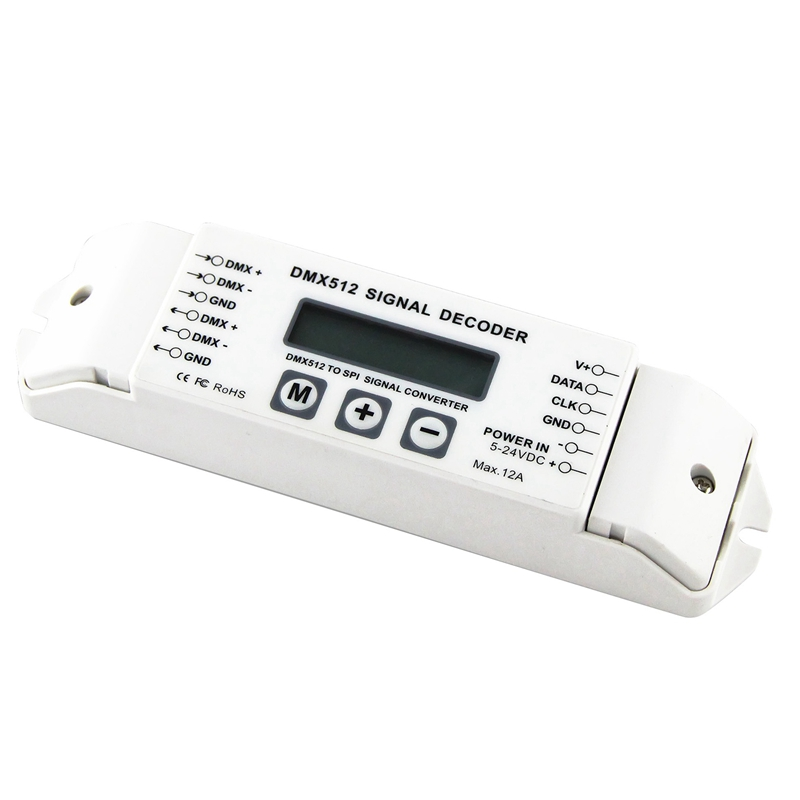 Bc-820 Dmx To Spi Signal Decoder Convertor Dmx512 Lpd6803 8806 Ws2811/ 2801 Ws2812b 9813 Led Pixel Light Controller Dc5v-24v To Produce An Effect Toward Clear Vision Consumer Electronics Ac/dc Adapters