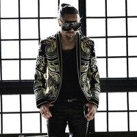 Барокко Блейзер роскошные мужские работы вышивка пиджак человек пиджаки для женщин Terno мужской Slim Fit M 3XL