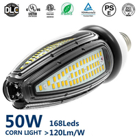 Topoch E40 50W Corn LED Lamp 120LM/W UL CE Approved CFL HPS MH Mercury Replacement 100 277V for High Bay Garden Square Fixture