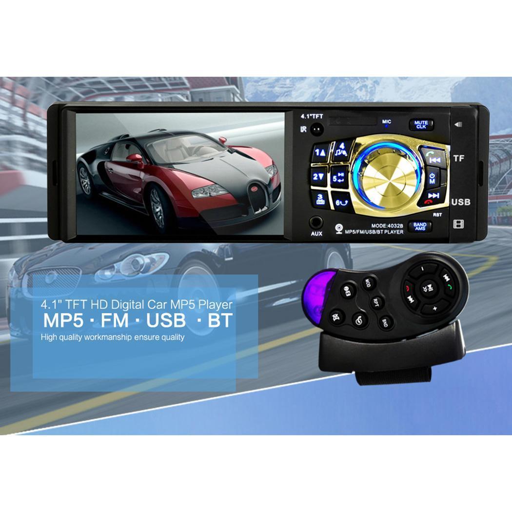 Lecteur MP3 de voiture 4 pouces avec caméra WMA coloré OLED 4032B écran voiture 60 W MP3 12 V 24 V lecteur USB MP3 WMA noir