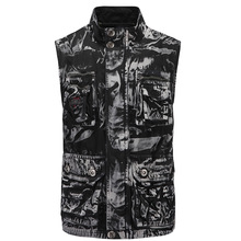 2019 New Outdoor Mens Climbing Vest Original Tooling Camouflage Cotton