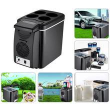 Оснащение салона машины аксессуары 12 в 6 л автомобильный мини-холодильник легкий двойного назначения теплоизоляционная сумка-холодильник контейнер