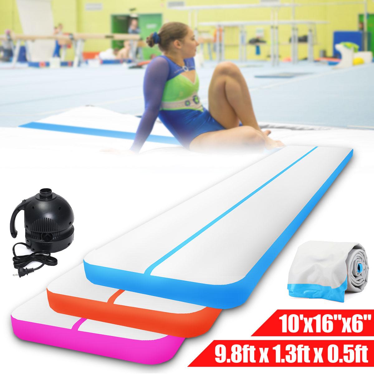 Tapis gonflable d'exercice de gymnastique de voie de culbuteur d'air d'équilibre gonflable tapis d'exercice de gymnastique de tapis de voie d'air avec la machine gonflable