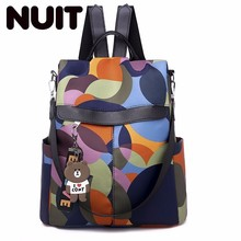 Students Fashion Backpack Bags Oxford Both Shoulders Korean Outdoors Bag Woman Large Capacity Travelling
