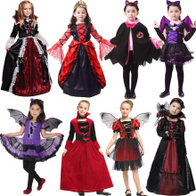 new year halloween costume for kids vampire witch anime cosp