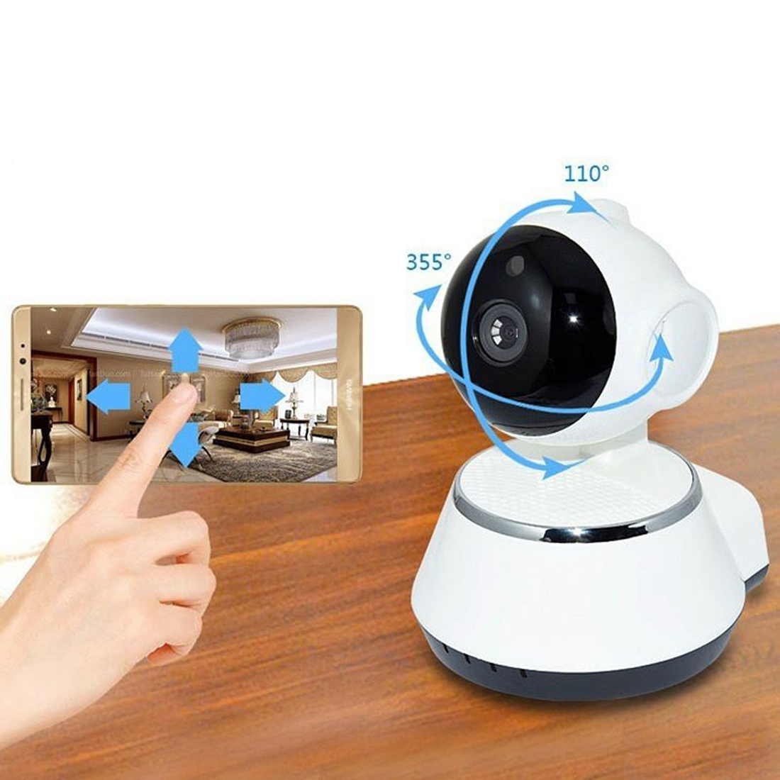 Image 4 - V380 Phone APP HD 720P Mini IP Camera Wifi Camera Wireless P2P Security Camera Night Vision IR Robot Baby Monitor Support(SD C-in Baby Monitors from Security & Protection
